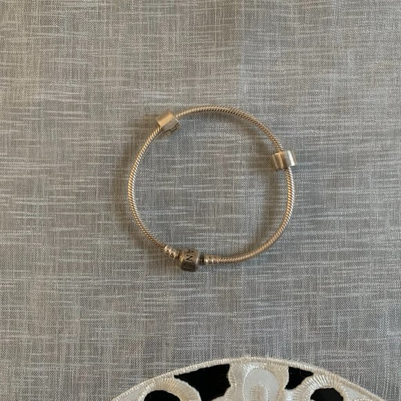 Pandora Silver Bracelet and clips